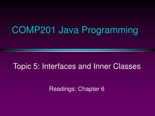 COMP201 Java Programming