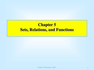 Chapter 5 Sets, Relations, and Functions