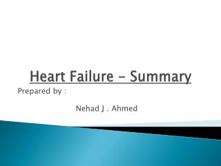 Heart  Failure - Summary