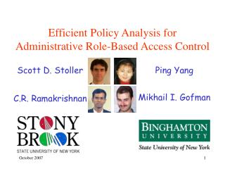 Efficient Policy Analysis for  Administrative Role-Based Access Control