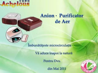 Anion · Purificator              de Aer