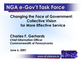 NGA e-Gov't Task Force