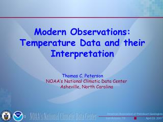 Modern Observations: Temperature Data and their Interpretation
