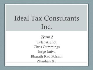 Ideal Tax Consultants Inc.