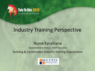 Industry Training Perspective