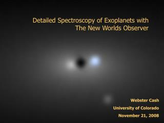 Detailed Spectroscopy of Exoplanets with The New Worlds Observer