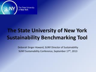 The State  University of New York Sustainability Benchmarking Tool