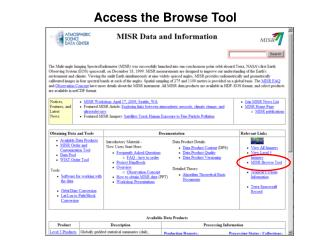 Access the Browse Tool