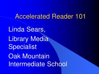 Accelerated Reader 101