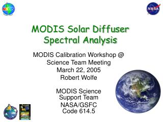 MODIS Solar Diffuser  Spectral Analysis