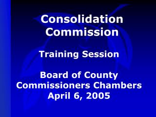 Consolidation  Commission