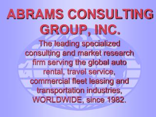 ABRAMS CONSULTING             GROUP, INC.