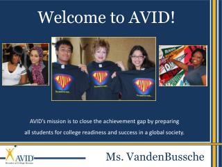 Welcome to AVID!
