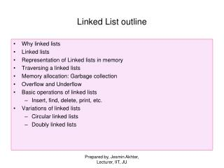 Linked List outline