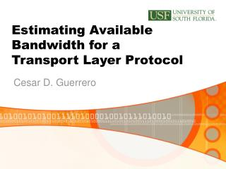 Estimating Available Bandwidth for a Transport Layer Protocol