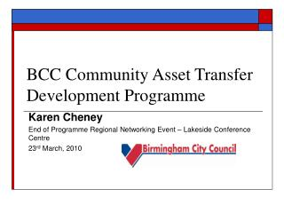 BCC Community Asset Transfer Development Programme