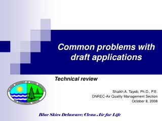 Common problems with draft applications