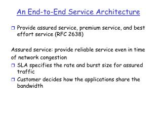 An End-to-End Service Architecture