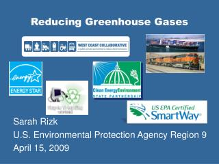 Reducing Greenhouse Gases