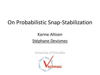 On Probabilistic Snap-Stabilization