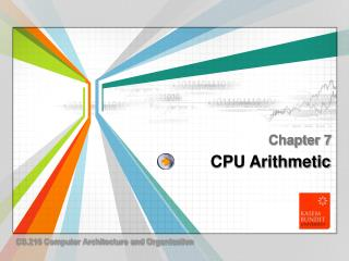 CPU Arithmetic
