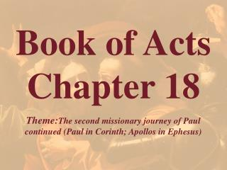 Book of Acts  Chapter 18