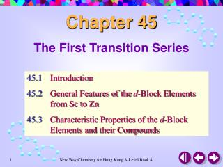 The First Transition Series