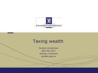 Taxing wealth