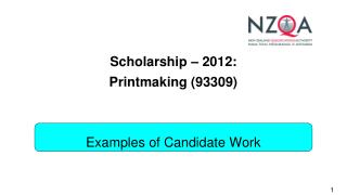 Scholarship – 2012: Printmaking (93309)