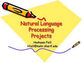 Natural Language Processing Projects