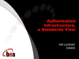 Authorization Infrastructure,  a Standards View