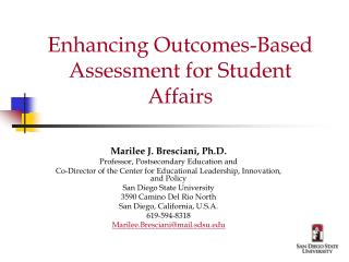 Enhancing Outcomes-Based Assessment for Student Affairs