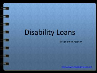 Disability Loans– Same Day Loans For Disabled