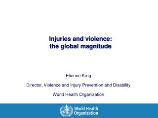 Injuries and violence:  the global magnitude