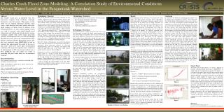Charles Creek Flood Zone Modeling: A Correlation Study of Environmental Conditions  Versus Water Level in the Pasquotank