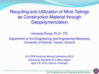 Recycling and Utilization of Mine Tailings as Construction Material through Geopolymerization