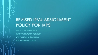 Revised ipv4 assignment poli c y for ixps