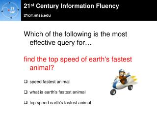Which of the following is the most effective query for…