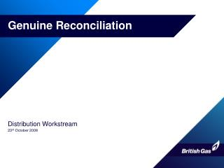Genuine Reconciliation