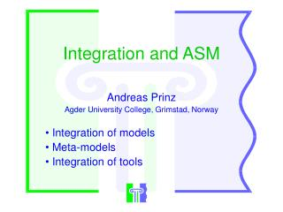 Integration and ASM