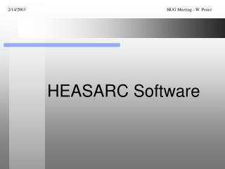 HEASARC Software