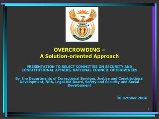 OVERCROWDING – A Solution-oriented Approach