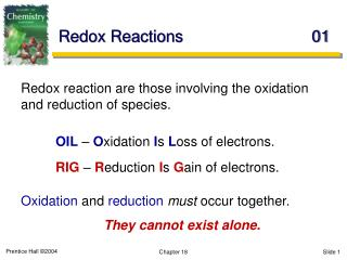 Redox Reactions	01