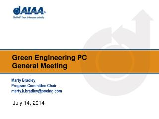 Green Engineering  PC  General Meeting