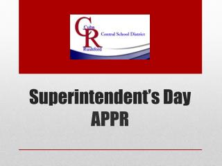 Superintendent's Day APPR