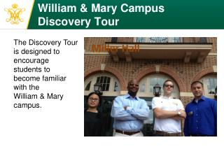 William & Mary Campus Discovery Tour