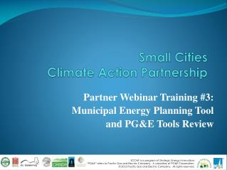 Small Cities Climate Action Partnership