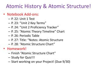 Atomic History & Atomic Structure!
