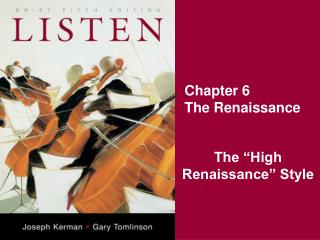 Chapter 6 The Renaissance