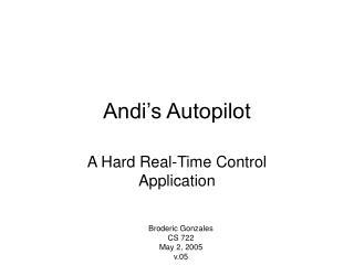 Andi's Autopilot